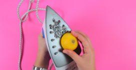 Passa il limone sotto il ferro da stiro: il trucchetto che ti sarà utile