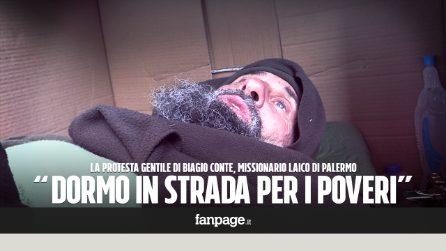 """Palermo, il coraggio di Biagio Conte: """"Dormo per strada per i poveri e i senzatetto"""""""
