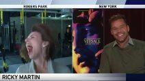 """Ricky Martin è ancora in studio e ride divertito: la """"figuraccia"""" della giornalista"""