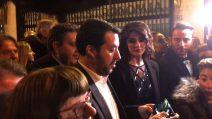 """Salvini a Sanremo con la Isoardi: """"Parlo di musica non di politica"""""""