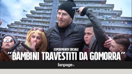Bambini mascherati da Gomorra a Napoli - La reazione della gente [ESPERIMENTO SOCIALE]