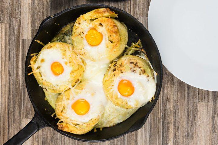 Ricetta crepes salate con un uovo