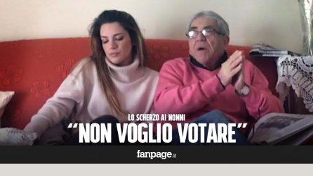 """""""Non voglio votare"""" - lo scherzo ai nonni [Candid Camera]"""