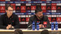 """Gattuso: """"Per la Champions non possiamo sbagliare"""""""