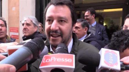 """Camere, Salvini: """"Non farò nomi ma vogliamo una delle due presidenze"""""""