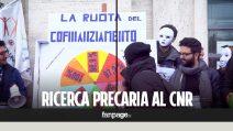 """La protesta dei precari del CNR con la """"Ruota della fortuna"""""""
