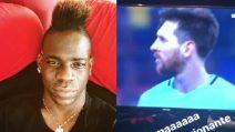 Roma batte Barcellona: la reazione di Mario Balotelli