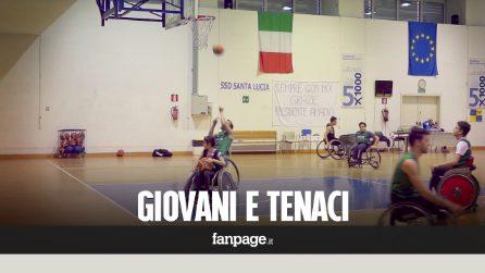 """Basket in carrozzina, la sfida della squadra """"Giovani e Tenaci"""""""