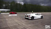 LaFerrari vs Koenigsegg Agera, da 0 a oltre 300km/h: ecco la macchina più veloce