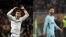 Champions League: le differenti reazioni di Ronaldo e Messi durante le partite
