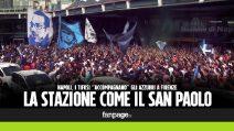 Fiorentina-Napoli, la stazione centrale diventa come il San Paolo: migliaia cantano in coro