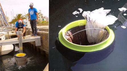Il bidone della spazzatura galleggiante che potrebbe salvare i nostri mari dall'inquinamento