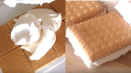Biscotti gelato al tiramisù: uno snack fresco da preparare a casa