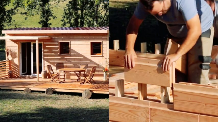 Case Di Legno E Mattoni : Solo ore per costruire questa casa il segreto mattoni di
