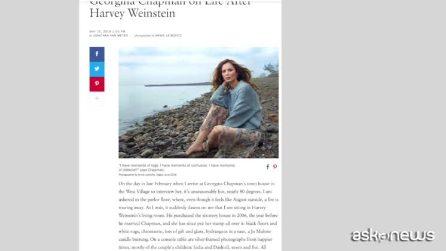 """Parla la moglie di Harvey Weinstein, Georgina Chapman: """"Non ho mai sospettato nulla, sono a pezzi"""""""
