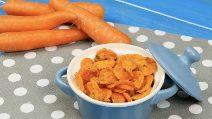 Carrot chips in the microwave