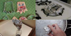 Usi alternativi della carta alluminio: ecco una serie di soluzioni in cucina