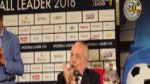 """De Laurentiis: """"Spero che Ancelotti resti 10 anni"""""""