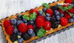 Tart with berries and lemon cream: a very tasty dessert
