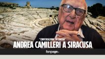 """Andrea Camilleri al Teatro Greco di Siracusa: """"La cecità mi ha dato maggiore chiarezza di pensiero"""""""