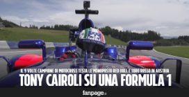 """Tony Cairoli, il campione di motocross sulla Formula 1 Red Bull: """"Correre così è adrenalina pura"""""""