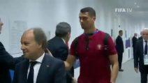 Portogallo-Marocco, nuovo look per Cristiano Ronaldo: si presenta con il pizzetto