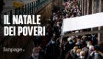 """Napoli, la lunga fila alla mensa dei poveri per il pranzo della Vigilia di Natale: """"Pasto per tutti"""""""