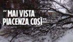 "Maltempo, nevicata e disagi a Piacenza: ""Mai vista così tanta neve"""