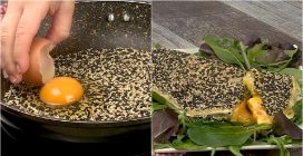 Stuffed sesame omelette: you will love this!
