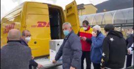 L'arrivo dei vaccini Covid presso l'hub di Nocera