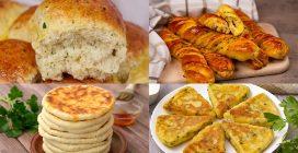 4 Ricette sfiziose per preparare delle alternative saporite al solito pane!