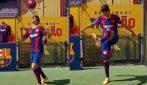 Il nuovo attaccante del Barcellona: i primi palleggi al Camp Nou di Trincão