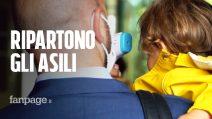 """Riaprono gli asili a Milano, tra termoscanner e visiere: """"Molta voglia di tornare e un filo d'ansia"""""""