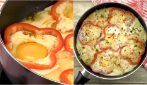 Bell peppers and egg cake: a delicious idea for a tasty dinner!
