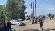 Funerali Willy Monteiro, l'arrivo del feretro a Paliano