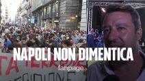"""Regionali Campania, Matteo Salvini a Napoli per lanciare Stefano Caldoro, contestato: """"Non lo vogliamo"""""""