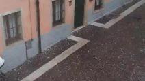 Maltempo, bufera in Veneto: grandine come noci e strade imbiancate