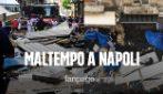 Nubifragio a Napoli: crolla tettoia alla Pignasecca, ragazza ferita. Le immagini dei danni in città