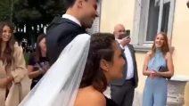 L'abito da sposa di Elettra Lamborghini per il matrimonio con Afrojack