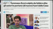 GF Vip 2020, Tommaso Zorzi lascia la casa di nuovo a causa della febbre alta