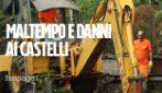 Maltempo ai Castelli Romani, danni sulle strade e alle abitazioni