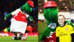 Gunnersaurus, la mascotte licenziata dall'Arsenal: la storia del dinosauro verde amico dei bambini