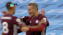 Premier League, Manchester City-Leicester 2-5: gol e highlights