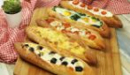 Multiflavor baguettes: a fun dinner idea for the whole family!