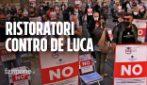 """Ristoratori contro De Luca: """"L'ordinanza non ha senso, sta distruggendo un intero settore"""""""
