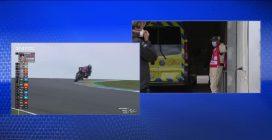 Motogp, Moto2: paura per Luca Marini, arriva al centro medico dopo la caduta