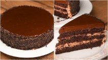 Bolo de chocolate: fofinho e cremoso, ideal para qualquer ocasião!