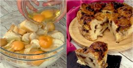 Bread sweet cake: the best way to reuse stale bread!