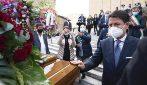 Funerali Santelli a Cosenza, l'arrivo del premier Conte