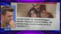 """GVip, Andrea Zelletta in lacrime per Natalia Paragoni: """"Grazie, lei mi capisce"""""""
